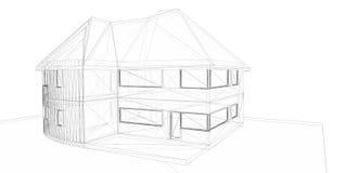 het 3D teruggeven van huis. Witte backgroun stock foto