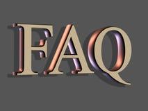 het 3D Van letters voorzien: FAQ Stock Foto