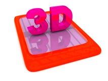 het 3D van letters voorzien op Gadget Stock Foto