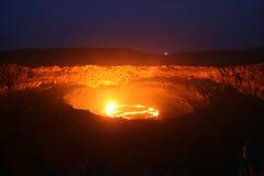 Het Aal van Erta bij nacht stock foto's