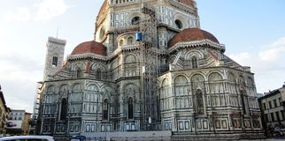 Het aan de gang zijnde werk om een kathedraal in Italië te herstellen Royalty-vrije Stock Afbeelding
