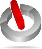 Het aan-uit- symbool van de schakelaar Stock Afbeelding