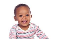 Het aanbiddelijke Afrikaanse baby glimlachen Royalty-vrije Stock Afbeelding