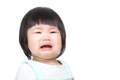 Het aanbiddelijke Aziatische baby schreeuwen royalty-vrije stock afbeelding