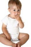 Het aanbiddelijke Eten van de Jongen van de Baby royalty-vrije stock afbeeldingen