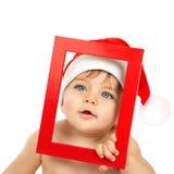 Het aanbiddelijke jonge geitje viert Kerstmis Royalty-vrije Stock Afbeelding