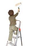 Het aanbiddelijke jongen schilderen Stock Afbeeldingen