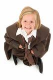Het aanbiddelijke Meisje van 7 Éénjarigen in Kostuum stock foto