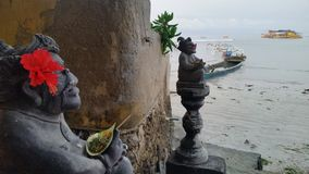 Het aanbieden in Bali Stock Foto's