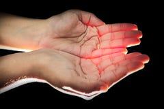Het aanbieden van Handen Stock Afbeelding