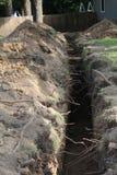 Het aanbrengen van een resedential waterlijn Stock Afbeelding