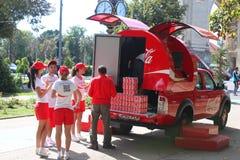 Het aandeel van de coca-colajeugd Stock Afbeelding