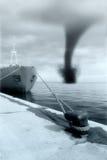 Het aankomen van de orkaan Royalty-vrije Stock Foto