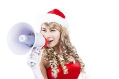 Het aankondigen van Kerstmis komt Stock Foto