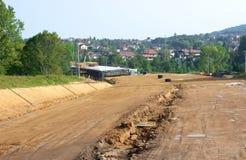Het aanleggen van nieuwe weg Stock Foto