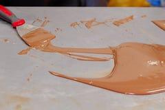 Het aanmaken van de chocolade Stock Foto's