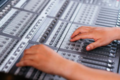 Het aanpassen Audio het Mengen zich Console Stock Fotografie