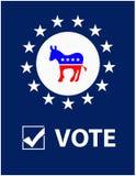 Het Aanplakbiljet van de Democraat van de stem Stock Afbeeldingen