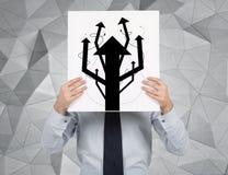 Het aanplakbiljet van de zakenmanholding Stock Afbeeldingen