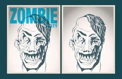 Het aanplakbiljetreeks van de zombiepartij Stock Foto's