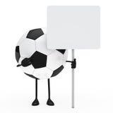 Het aanplakbord van de het cijfergreep van de voetbal Stock Foto