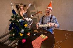 Het aanstaande Nieuwjaar en Kerstmis stock foto's