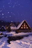 Het aansteken shirakawa-gaat Akte Japan royalty-vrije stock afbeeldingen