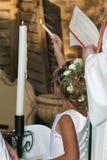 Het aansteken van de kaarsen royalty-vrije stock fotografie