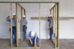 Het aantal arbeidskrachten van de bouw Stock Fotografie