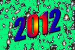 het aantal van 2012 Stock Fotografie