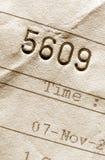 Het aantal van de rekening Stock Fotografie