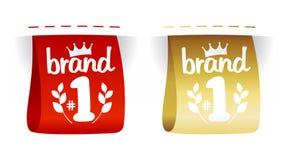 Het aantal van het merk etiketteert. Stock Afbeeldingen
