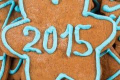 het aantal van 2015 op koekje Royalty-vrije Stock Afbeeldingen