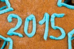 het aantal van 2015 op koekje Stock Foto's