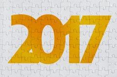 het aantal van 2017 op puzzel Royalty-vrije Stock Fotografie