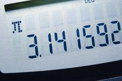 Het aantal van pi Royalty-vrije Stock Afbeeldingen