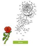 Het aantallenspel, bloem nam toe royalty-vrije illustratie