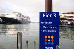 Het aantalteken van de pijler bij haven Royalty-vrije Stock Afbeelding