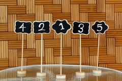 Het aantalteken van de restaurantlijst Royalty-vrije Stock Foto