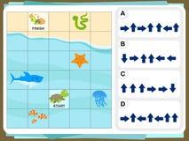 Het Aantekenvel van praktijkvragen voor Onderwijs en IQtest royalty-vrije illustratie
