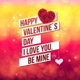 Het aantrekkelijke Gelukkige Concept van de Valentijnskaartendag Stock Foto's