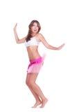 Het aantrekkelijke jonge vrouw springen Royalty-vrije Stock Foto