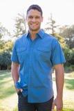 Het aantrekkelijke mens glimlachen Royalty-vrije Stock Fotografie