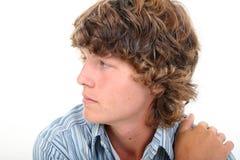 Het aantrekkelijke Profiel van de Jongen van de Tiener van Zestien Éénjarigen Stock Foto