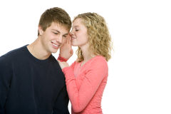 Het aantrekkelijke tieners roddelen Stock Afbeelding