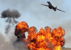Het aanvallen van de bommenwerper doel stock foto