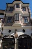 Het Aaphuis in oude stad van stad van Veliko Tarnovo, Bulgarije Stock Foto