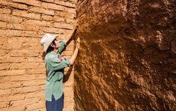 Het aarden pleisteren stock fotografie