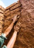 Het aarden pleisteren royalty-vrije stock afbeelding