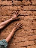 Het aarden pleisteren royalty-vrije stock foto